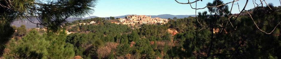 Blick auf Roussillon